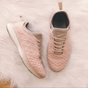 apl techloom sneakers in rose gold size 9.5
